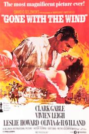 """Самой любимой кинокартиной в США назван фильм """"Унесенные ветром"""", снятый режиссером Виктором Флемингом в далеком 1939 году по мотивам одноименного романа Маргарет Митчелл."""