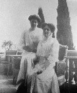 Императрица Александра Федоровна и Анна Вырубова в Ливадии
