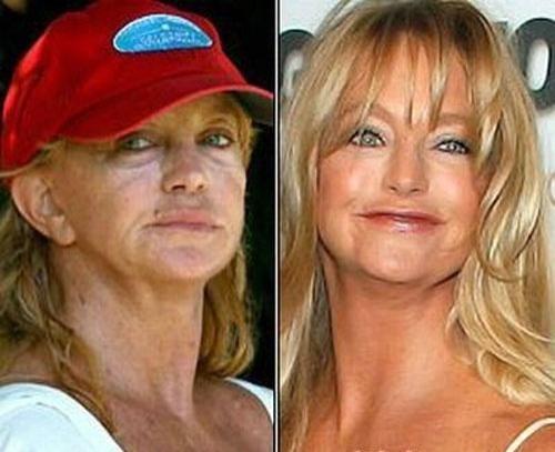 Звезды за 40 лет без макияжа