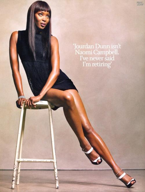 Наоми Кэмпбелл внедряет в Лондоне моду на русский стиль