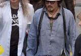 Джонни Депп на съемках документального фильма о Ките Ричардсе. Фото