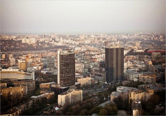 """Киевские башни-близнецы: """"Парус"""" и """"Эспланада"""""""