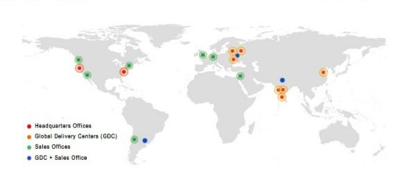 Карта офисов GL в мире