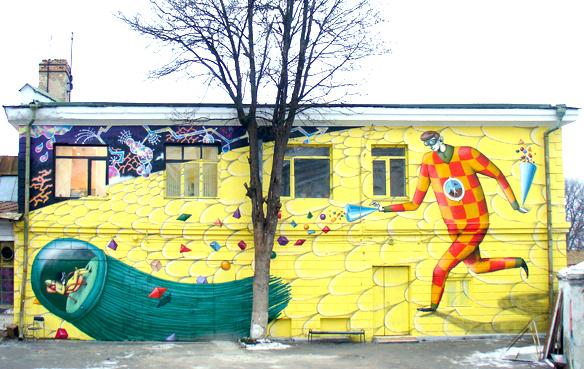 Коллаборация Interesni Kazki & Lodek можно увидеть на Лаврском переулке, 9