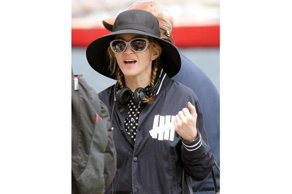 Мадонна на съемках своего фильма