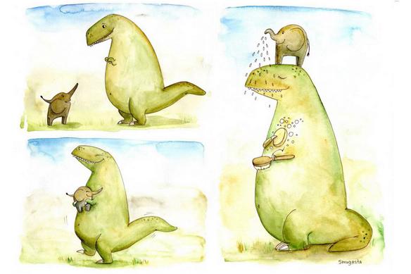 Мікро-історія : Слон і Динозавр