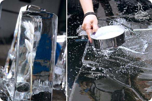 Натуральный, кристально прозрачный лёд. Инсталяции. Рекламный проект для Zarina.