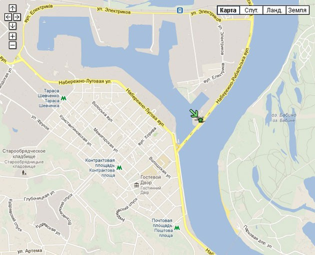 Карта с указанием места проведения Junk Sale - скейтпарка GAVAN