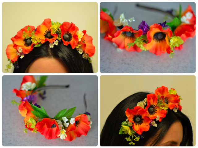 Как сделать ободок из цветов