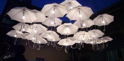 Украшаем парк зонтиками-фонарями