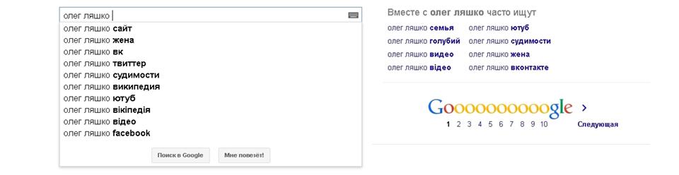Ляшко, Google