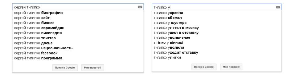 Тигипко, Google