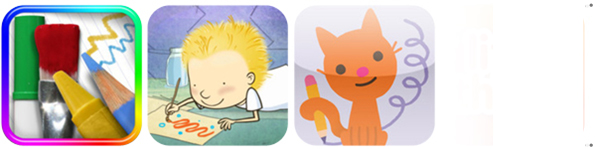 Mobile apps, приложения, Drawing pad, Stella and Sam, Doodlecast for Kids