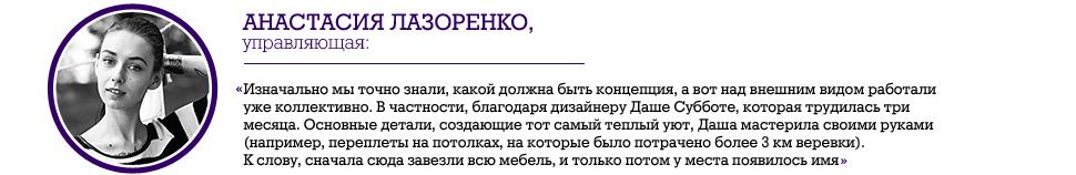 """Анастасия Лазоренко, """"Балкон"""", cafe&lounge"""