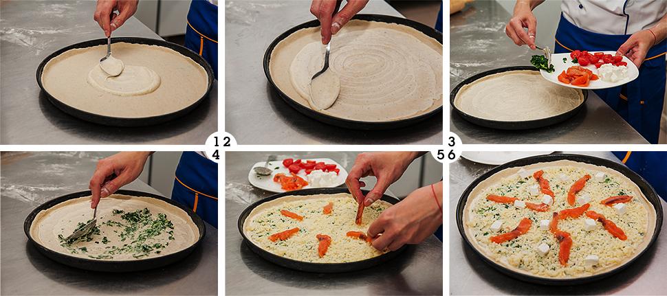 пицца, пицца с лососем и фетой, хит продаж, eda.ua, выкладываем ингредиенты