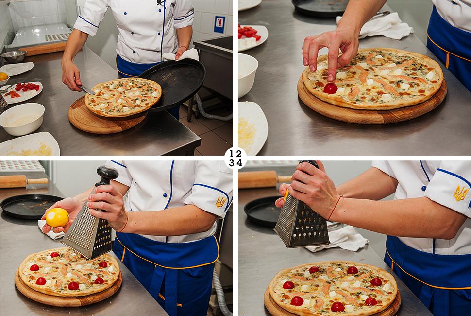 пицца, пицца с лососем и фетой, хит продаж, eda.ua, помидоры черри и цедра лимона