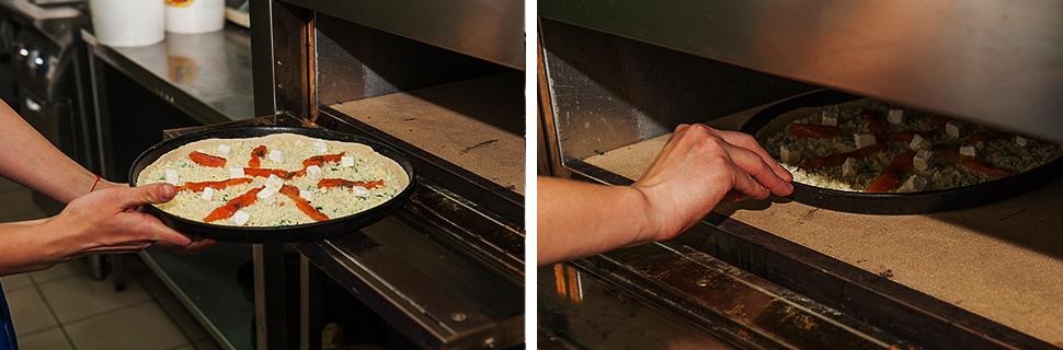 пицца, пицца с лососем и фетой, хит продаж, eda.ua, выпекаем пиццу
