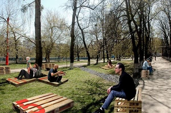 Киев, субботник, стадион