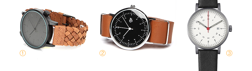 Winston Woven Chestnut,KOMONO, Harold Black, Сheapo, V03D-BR/BL/WH, VOID WATCHES, часы