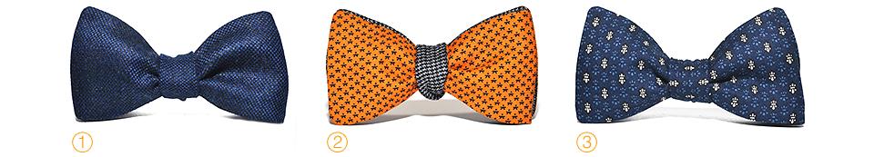 Violet Wool Paradise bow-tie, Orange Wool bow-tie, Blue Heraldic bow-tie, бабочки