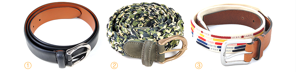 Anderson's Real Calf Belt Anderson's Real Calf/Textile Belt Folk Hesse Belt Ecru Multi