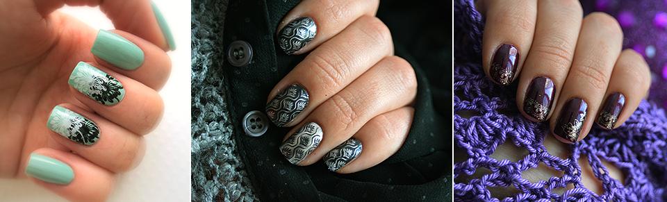 Nail stamping, маникюр