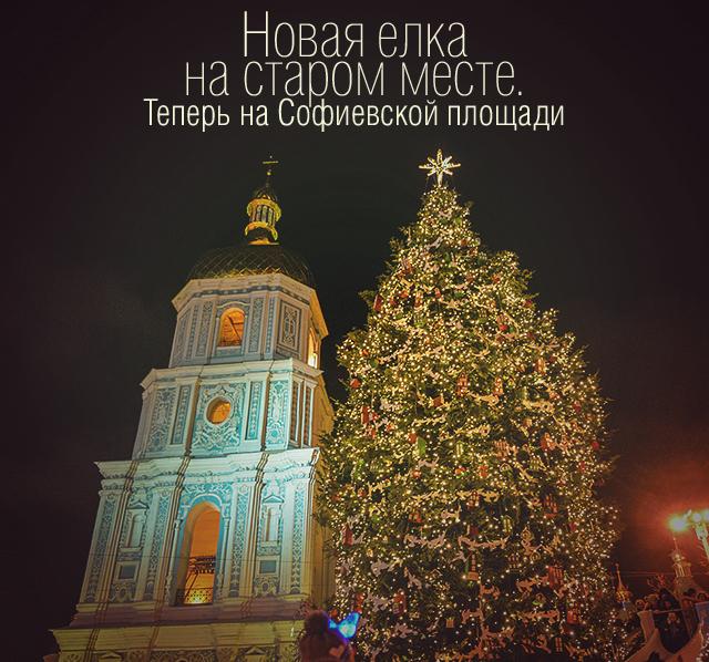Новая елка на старом месте. Теперь на Софиевской площади