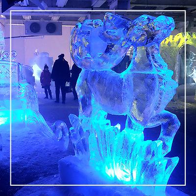 Выставка ледяных скульптур «Замороженные сны»