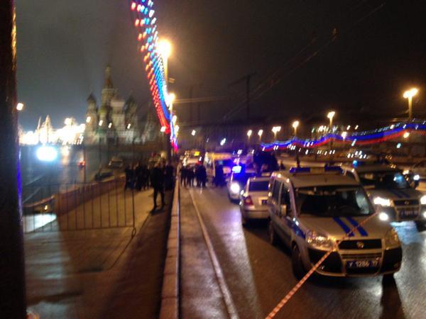 Борис Немцов, убит, Москва, фото с места преступления