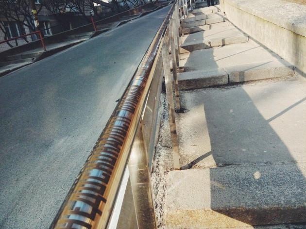 Необычные перила установлены на улице Ивана Франко