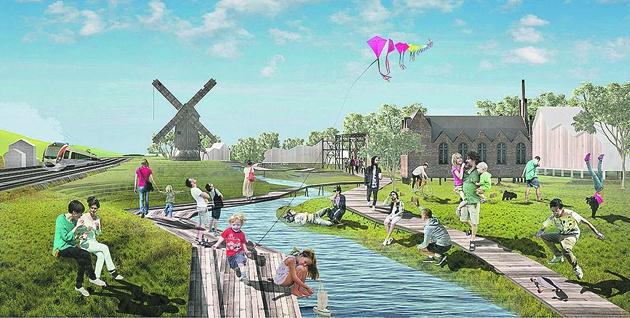 Возле древней речки хотят сделать зеленый парк с деревянным берегом