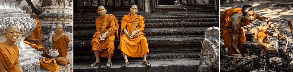 Cambodia, Камбоджа, монахи, ред булл