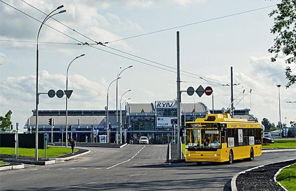 В 2016 году к терминалу международного аэропорта Киев (Жуляны) подведут троллейбусную линию