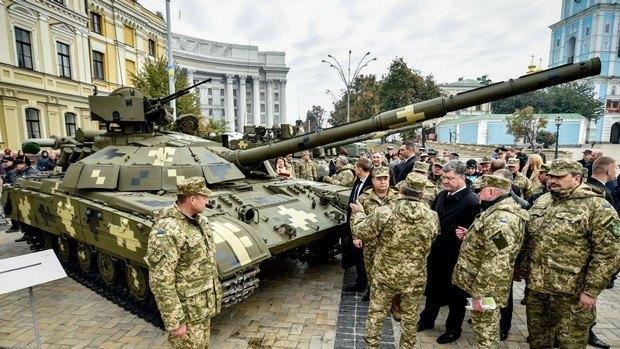 В центре Киева выставили новейшие образцы украинских вооружений