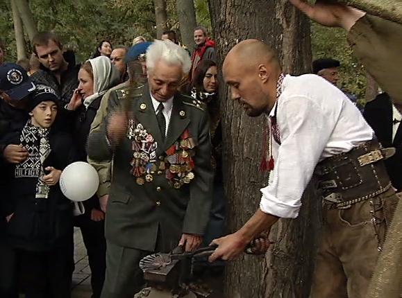 Впервые три поколения украинских воинов собрались вместе, чтобы отметить этот праздник