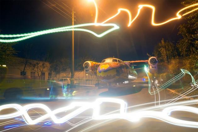 Разрисованный самолет станет местом проведения арт-представлений