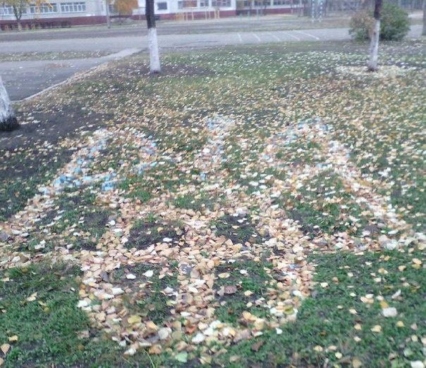 Необычный стрит-арт заметили возле одной из школ