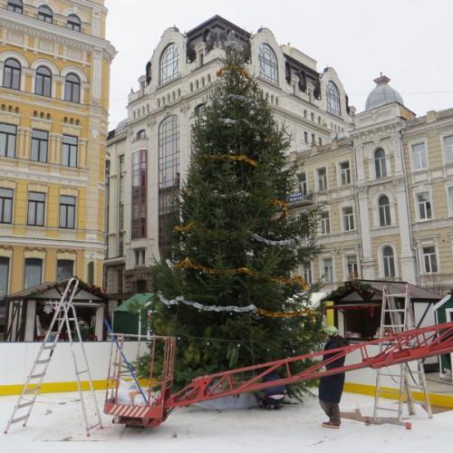 Также началось строительство Рождественского городка
