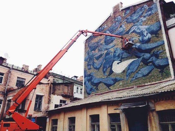 В то же время, некоторые киевляне выступили за запрет рисовать муралы в столице