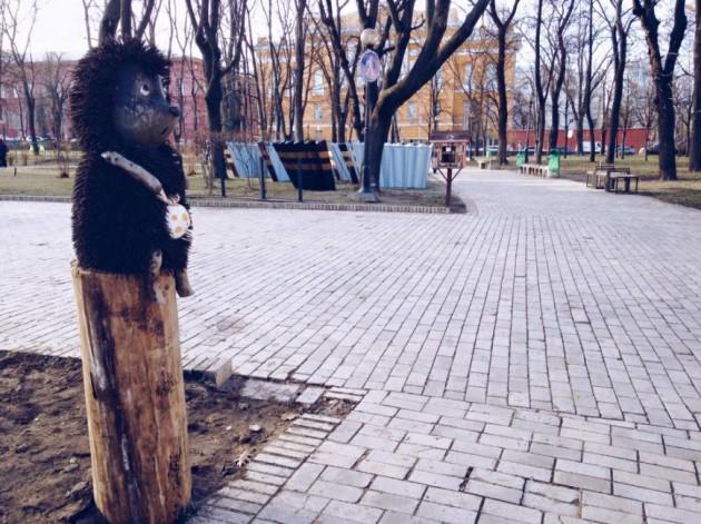 Скульптуру перенесли в парк Шевченко