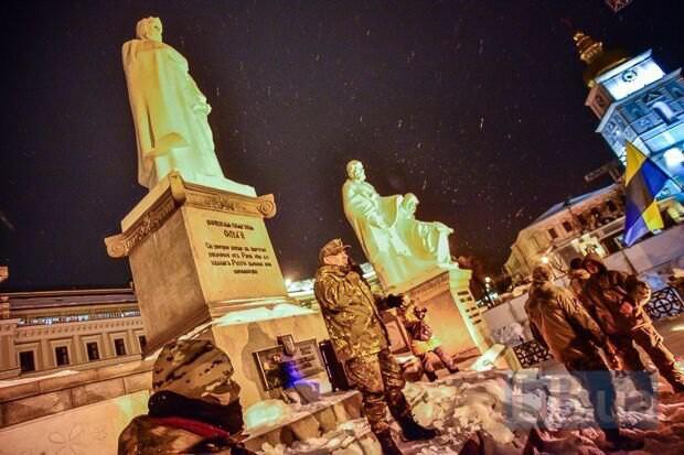 Вчера вечером в центре прошла акция, посвященная событиям на Майдане