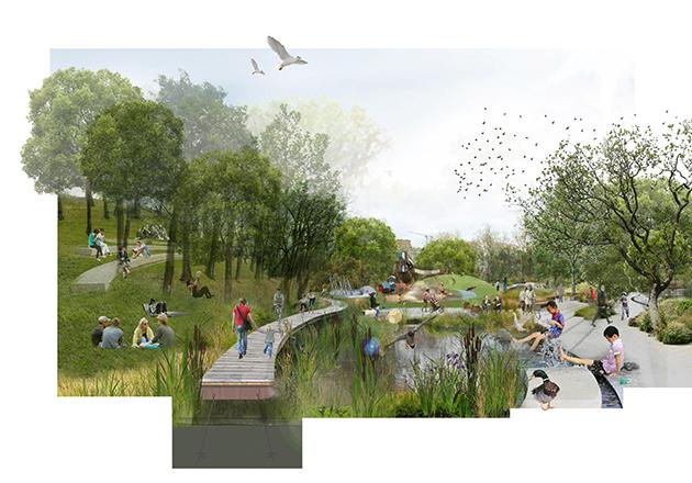 В столичном парке появятся дождевые сады, летний кинотеатр и арт-инсталляции