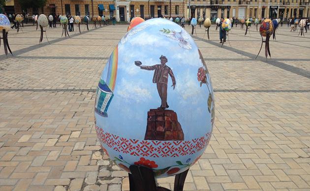 На фестивале писанок около Софиевского собора в Киеве определили победителя