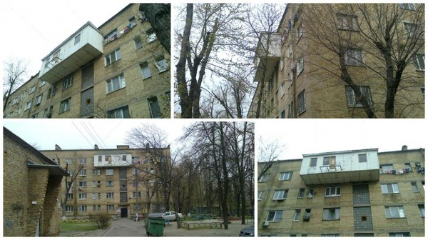 В Киеве житель одной из многоэтажек пристроил к квартире огромный балкон