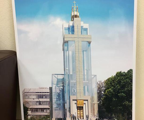 Невероятного размера постройка может появиться на Львовской площади у Торгово-промышленной палаты Украины