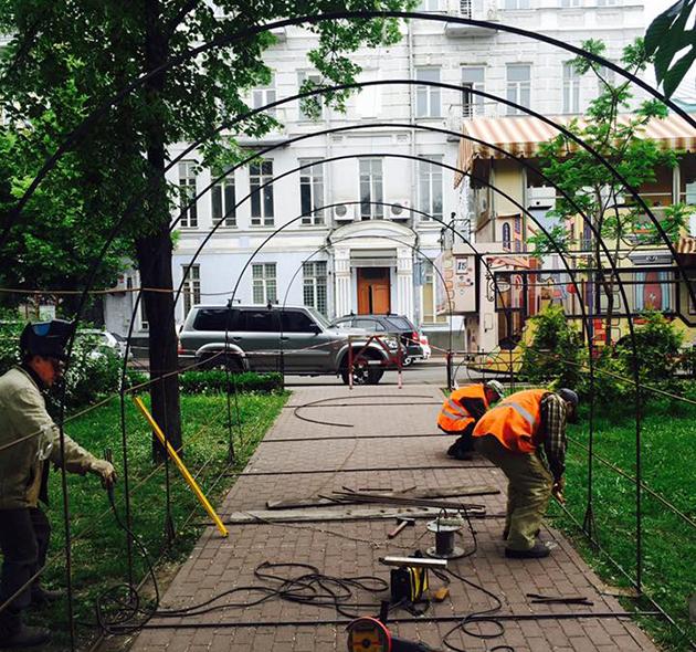Туннель сделают в сквере на ул. Сагайдачного
