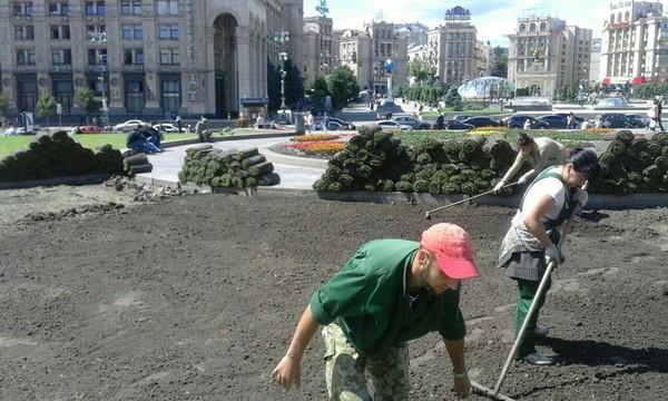 В центре столицы озеленили 900 квадратных метров площади