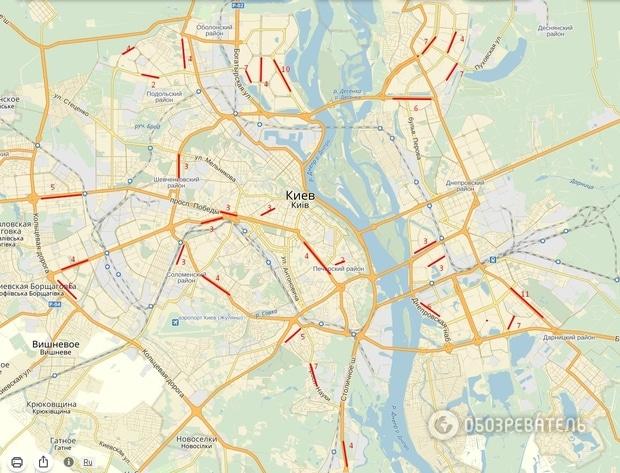Больше всего угонов произошло в Дарницком районе