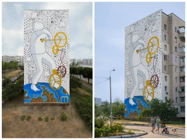 Изображение можно увидеть на улице Вербицкого