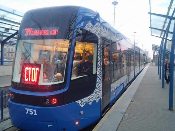 Трамвай Pesa появился на маршруте скоростного трамвая №3